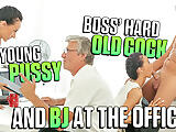 OLD4K. Babe has a crush on her mature boss and wants sex