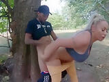 PAWG ass Blonde Cougar Get fucked in park