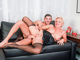 AMATEUR EURO - Classy GILF Lisa Shadow Tries Anal On Cam With A Real Big Cock Guy
