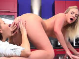 Lovesome lesbian kittens get splashed with pee and bu08Njp