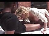 Lady Sonia blacked outside