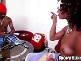 Wicked ebony chick nailed hard after playing strip dominos