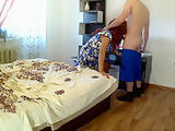 Anal sex mom and stepson. StepSon cumshot on the ass mother