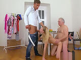 Olfd fart licks young pink pussy