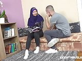 Sexy muslim teacher gives special lesson