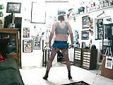 Kevinstockings and the new mini skirt, zippers are fun