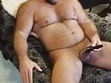 Superb hairy muscle bear wank toyVibrator